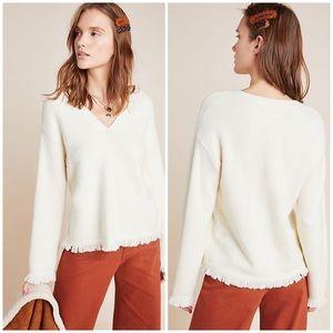 🤎COMING SOON🤎 Anthro Joy Fringed V-Neck Sweater